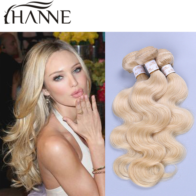 Russian Blonde Hair Bundles 613 Honey Blonde Weave 4 Pcs Blonde Remy