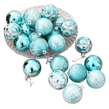 24 SZTUK Kulki Christmas Holiday Party Drzwi Ściany Dekoracji Xmas Drzewa Wiszące Ozdoby 5 cm Drukowanie Snowflake enfeite de natal