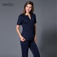 Viaoli Women S Short Sleeved Hand Washing Sets Of Medical Beauty Plastic Surgery Doctor Brush Hand