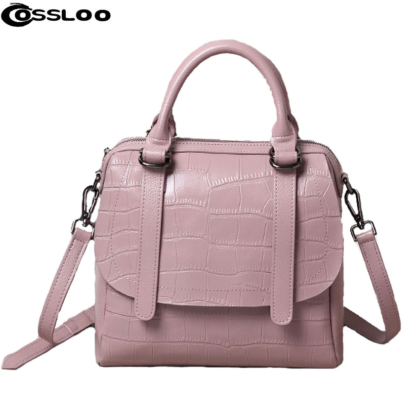 COSSLOO Women handbag for women bags leather pouch bolsas shoulder bag female messenger bags luxury handbags women bags designer цена 2017
