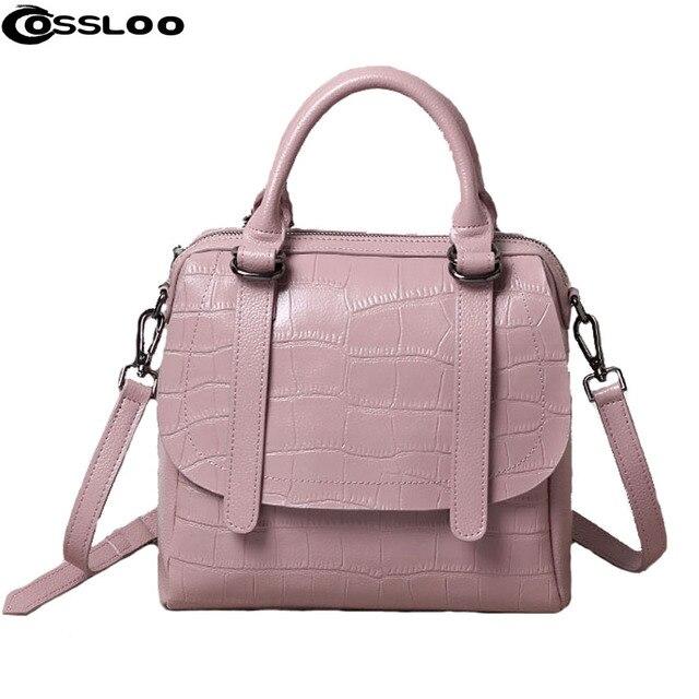 Cossloo Women Handbag For Bags Leather Pouch Bolsas Shoulder Bag Female Messenger Luxury Handbags