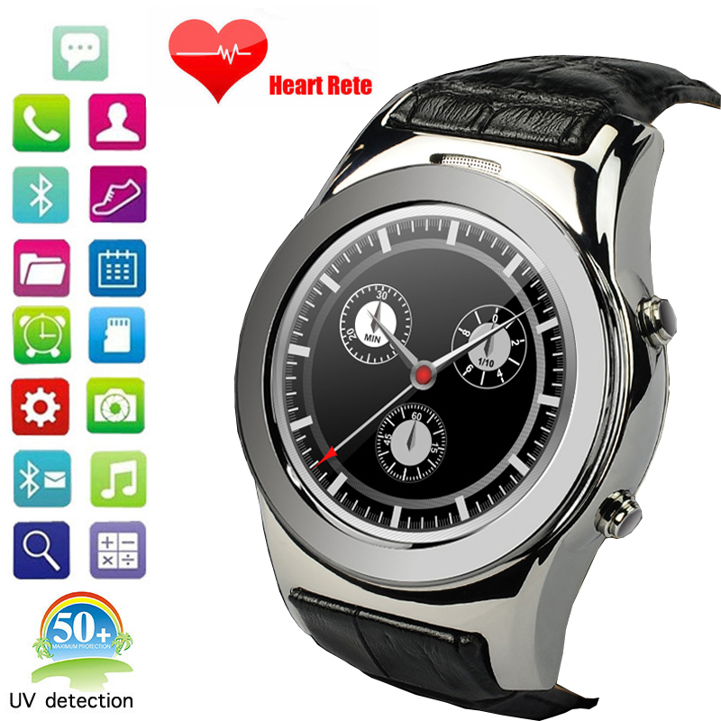 Newest A8S Round font b Smart b font font b watch b font Support SIM SD