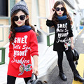 Autumn Sequined Paillette Elasticity Cotton Fleeces Kids Girls Long Sleeve Sweatshirts Hoodies Base Shirts Children's Clothing