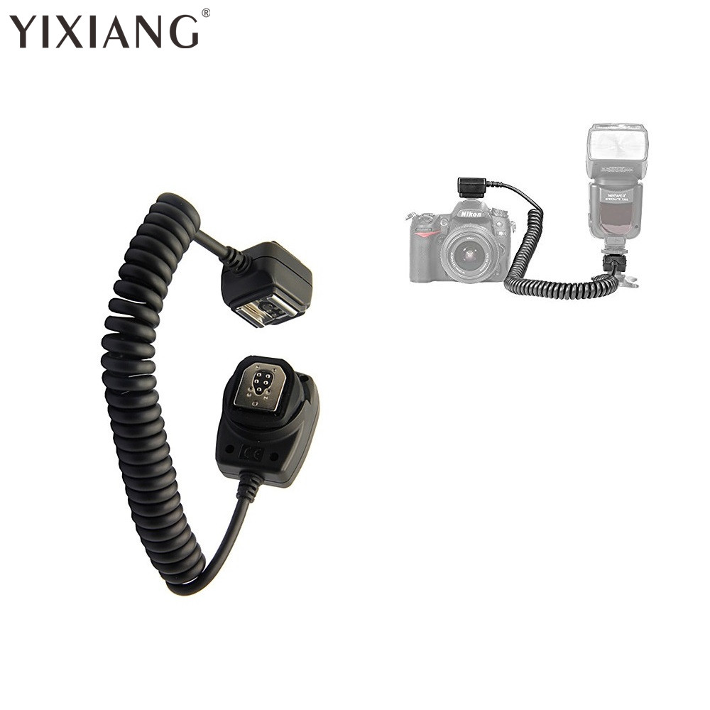 YIXIANG 1.5M TTL Off Camera Flash Hot Shoe Sync Cable Cord