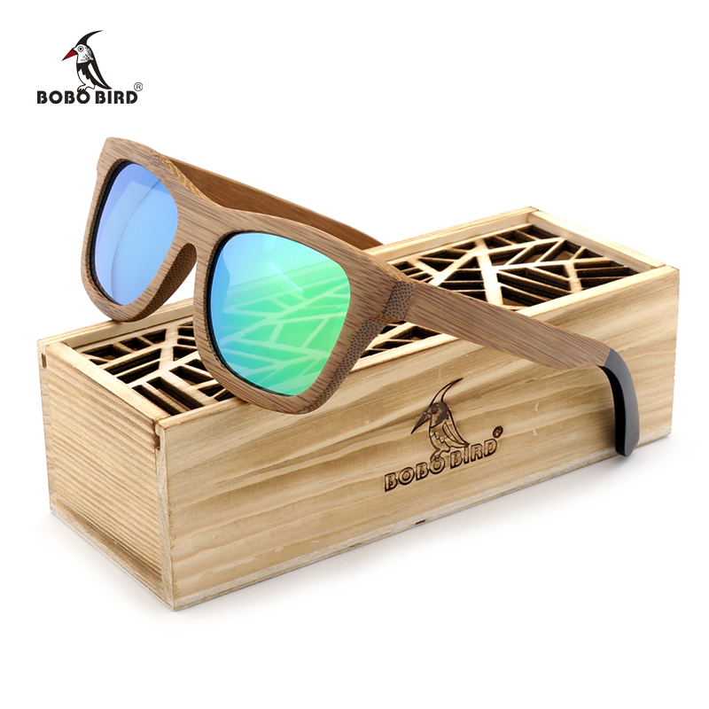 1d2d06a05d BOBO BIRD Brand Polarized Sunglasses Women Men Handmade Bamboo Sun Glasses  Steampunk Eyewear with Gift C-BG007-a-c