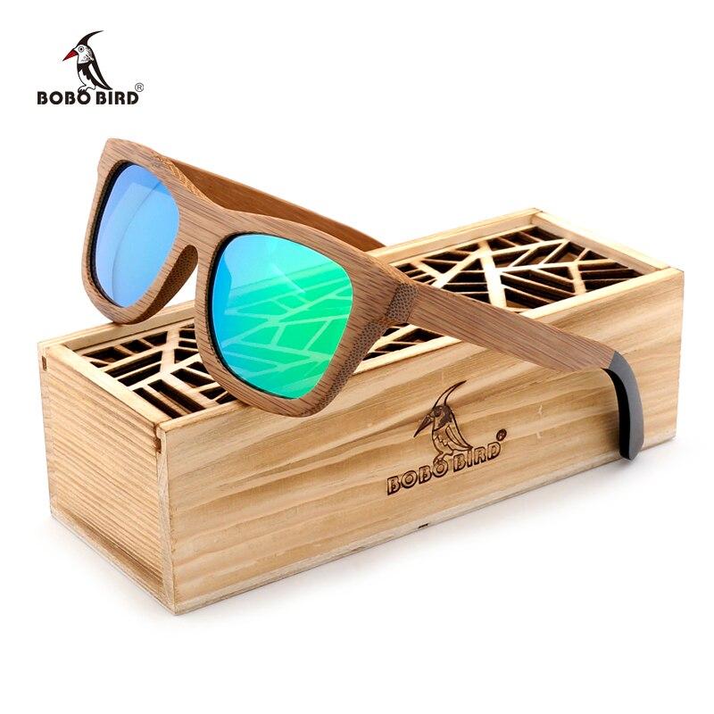 BOBO OISEAU Marque Polarisées lunettes de Soleil Femmes Hommes Faits À La  Main Bambou Lunettes de Soleil Steampunk Lunettes avec Cadeau C-BG007-a-c 20f2e5ba97ed