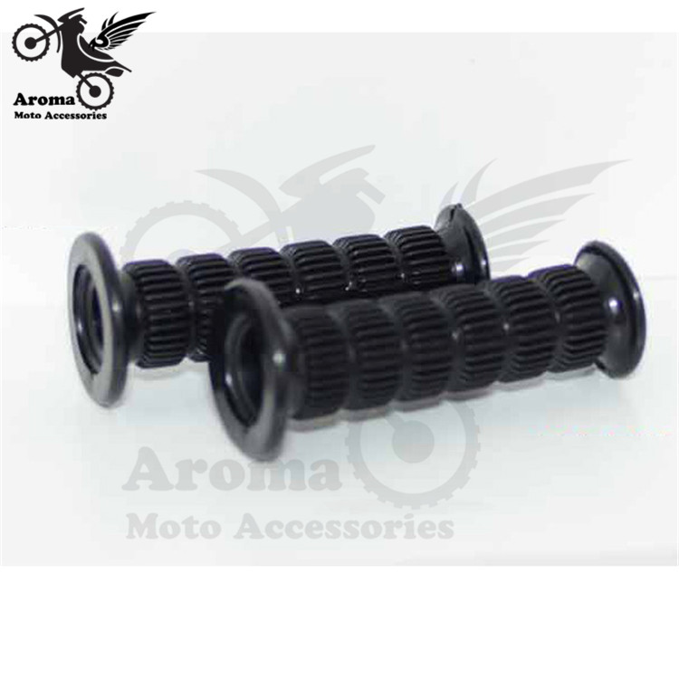 black universal moto handle grips for suzuki honda yamaha Kawasaki motorbike handlebar for Harley Davidson retro motorcycle grip