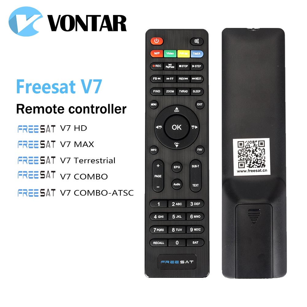 Genuine Remote Control For DVB-S2 Satellite Receiver Freesat V7 HD V7MAX V7combo V7 Terrestrial V7 COMBO-ATSC Free sat freesat v7 hd powervu satellite tv receiver dvb s2 with 3months free africa cccam account stable on starsat 5e