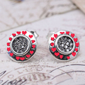 CZ PAVED Stud Earring Authentic 925 Sterling Silver Spring signature Earrings For Women Suitable For Brand Jewelry