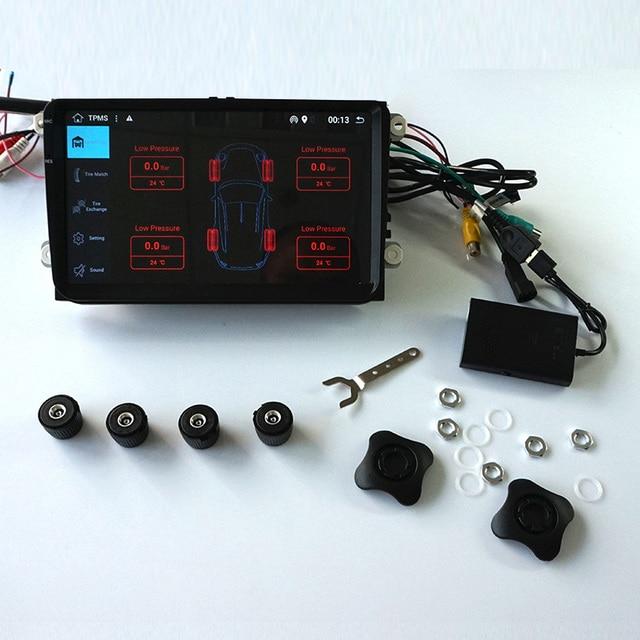 TPMS 4 Sensor for Android GPS Radio unit Tire Pressure Monitor TPMS Car Tire Diagnostic-tool with Mini External Sensor