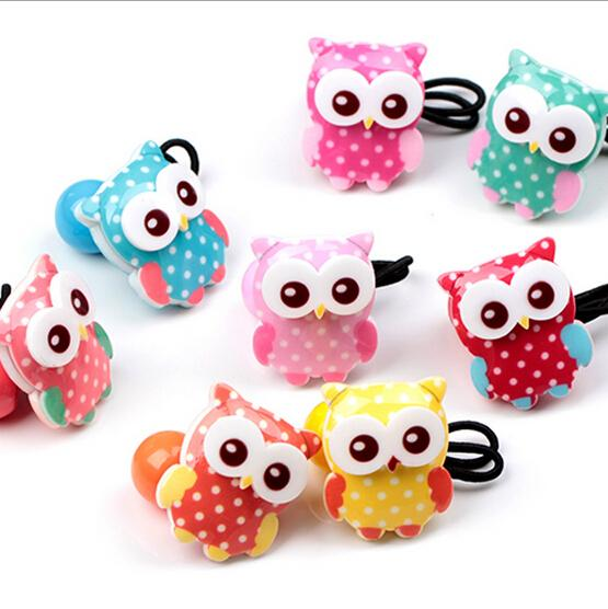 New Arrival headwear cute Owl Elastic Hair Bands hair accessories make you Beautiful used by women young girl and children halloween party zombie skull skeleton hand bone claw hairpin punk hair clip for women girl hair accessories headwear 1 pcs