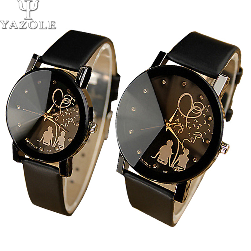2019 New Top Luxury Brand Couple Cartoon Dial Leather Strap Watch Casual Fashion Exquisite Simple Female Quartz