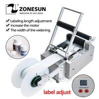 ZONESUN משלוח חינם חדש LT-50 עגול פלסטיק בקבוק תווית מכונה עגולה בקבוק תיוג מכונת עגול בקבוק מדבקת מכונת