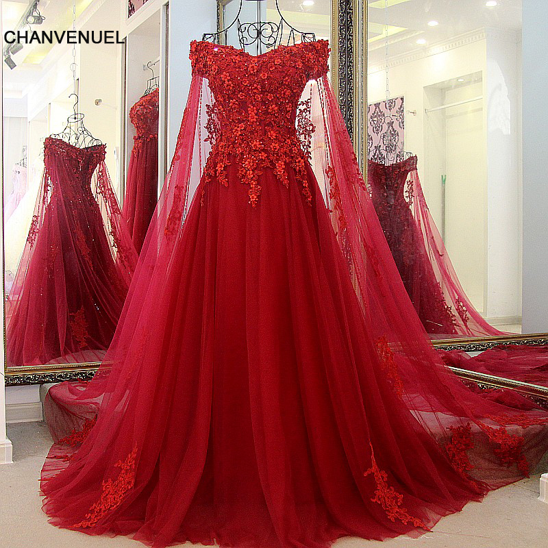 LS32474 элегантное длинное вечернее платье с длинным налетом длиной тюля длиной от плеча корсета назад вино красное