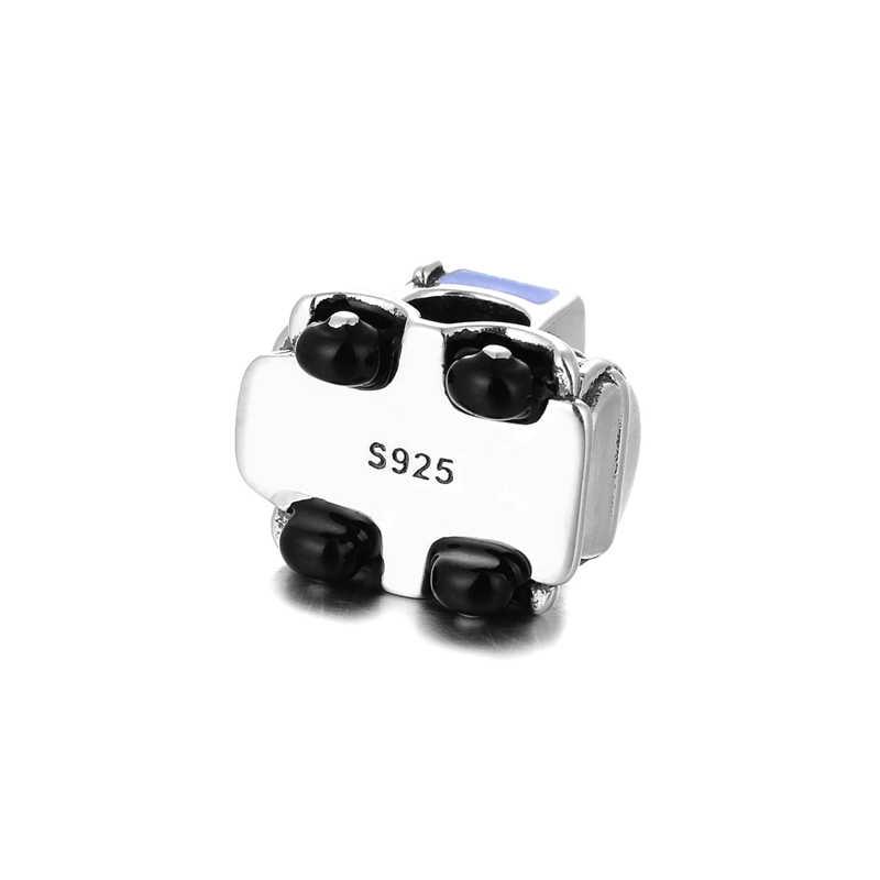 925 пробы серебро Винтаж автомобиля-stylin оберег бусины для браслета Berloques в Para Pulsera DIY браслет ювелирные изделия