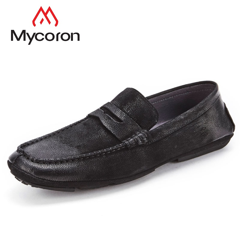Mycoron Men New Fashion Handmade Casual Shoes New 2018 Breathable Male Footwear Spring Autumn Loafers Mens Loafers Leather men s casual shoes breathable black men shoe mens fashion genuine leather man footwear spring autumn 2017 new