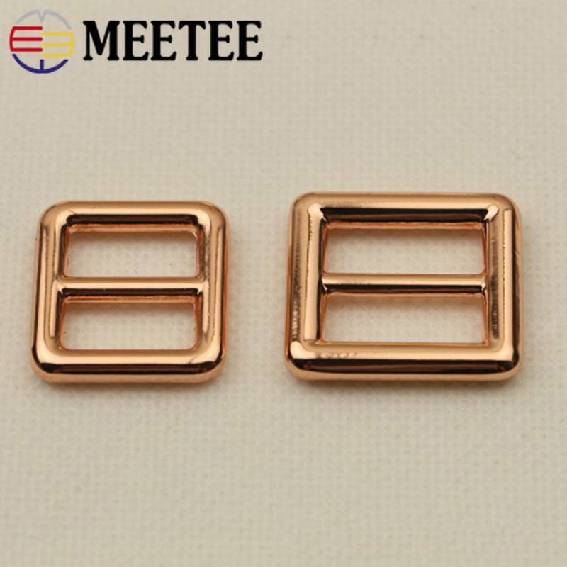 Aggressive Meetee 4pcs 16/20mm Metal Tri-glide Rose Gold Bags Belt Adjustment Buckle Diy Windbreaker Garment Decoration Accessories Bf003 Arts,crafts & Sewing