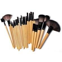 24 pcs/SET Makeup Brush Set Tools Wool Brand Make Up Goat Hair Brushes Set Maquillage Make-up Toiletry Kit
