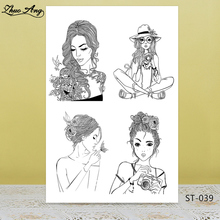 ZhuoAng Charming mature wemen style Clear Stamps/seals For DIY Scrapbooking/Card Making/Album Decorative Silicon Stamp Crafts