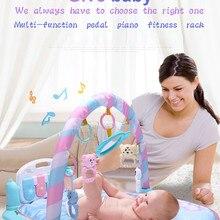 Коврик для ребенка спортивные игрушки игровой ковер 0-12 месяцев мягкое освещение погремушки детский музыкальный коврик ползание младенца коврик игрушки