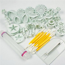 37Pcs/set Fondant Cake Decorating Sugarcraft Plunger Cutter Tools Mold Cookies Full Set