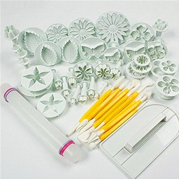 37Pcs/set Fondant Cake Decorating Sugarcraft Plunger Cutter Tools Mold Cookies Full Set Mold
