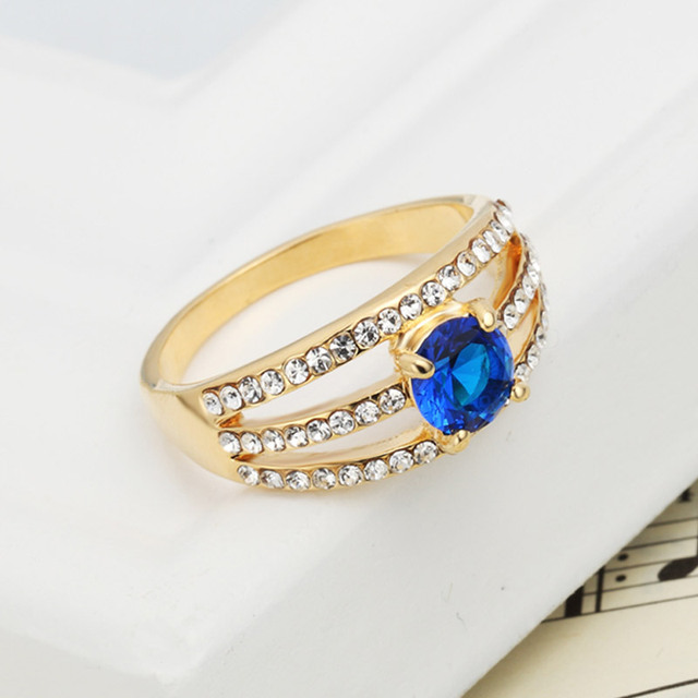 Neoglory Gold Plated Zircon Party Finger Rings For Women Statement Fashion India Jewelry Brand 2017 New Gifts Sale