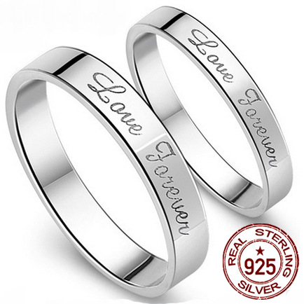 8f5f910c1b Engagement 925 Pure Silver Couple Rings Beautiful And Eternal Love  Personality Ms Male Buddhist Monastic Discipline Hot Sale