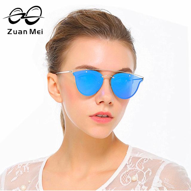 Zuan mei moda cat eye sunglasses mulheres marca designer retro Liga Quadro UV400 polarizada Óculos de Sol Para As Mulheres de Luxo 6 cor