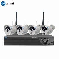 Anni интеллектуальная беспроводная (Wi Fi) 4 сетевой видеорегистратор, высокоинтегрированный 1080P Беспроводной Камера с ПИР, газа, сирены и обнар