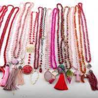 Wholesale MOODPC Fashion Mix Color Red Necklace Handmade Women Jewelry 20pc MIX