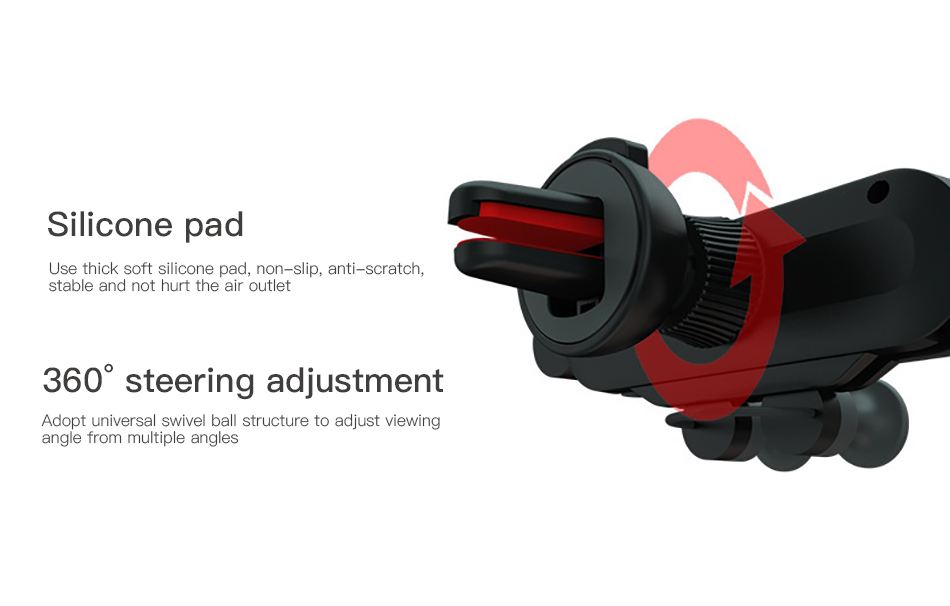 !ACCEZZ Gravity Car Phone Holder Air Vent Mount Clip For iPhone XS Universal Mobile Phone Stand Support GPS in Car Auto Bracket (11)