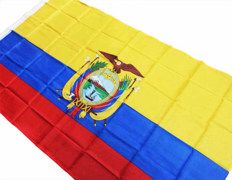 共和国のエクアドルフラグ 90 × 150 センチ Polyesty 装飾旗バナーエクアドル国旗 Ecuadorian の旗 NN104