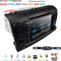 Free Camera 7 Double 2 Din Car Stereo DVD Player Navigation for Mazda 3 Mazda3 2004 2009 with GPS,Bluetooth,USB,SWC SD DAB TPMS