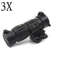 Tactical Red Dot Sight Scope 3x Magnifier Sight Riflescope With Side Flip Picatinny Rail Mount For Outdoor Hunting Handgun недорого