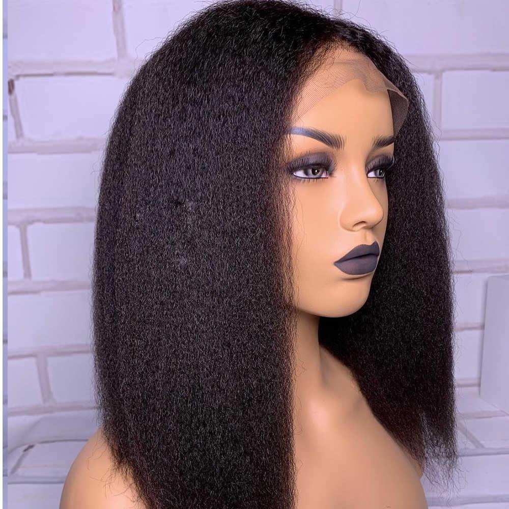 Simbeauty 変態ストレート 360 レースフロント人間の髪かつら女性のためのブラジルの Remy 毛グルーレス焼きで髪