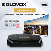 SOLOVOX V9S Support HDMI and AV Satellite Receiver Home Cinema Smart TV Box Build in WIFI Support Mars TV CCCAMD LIVE