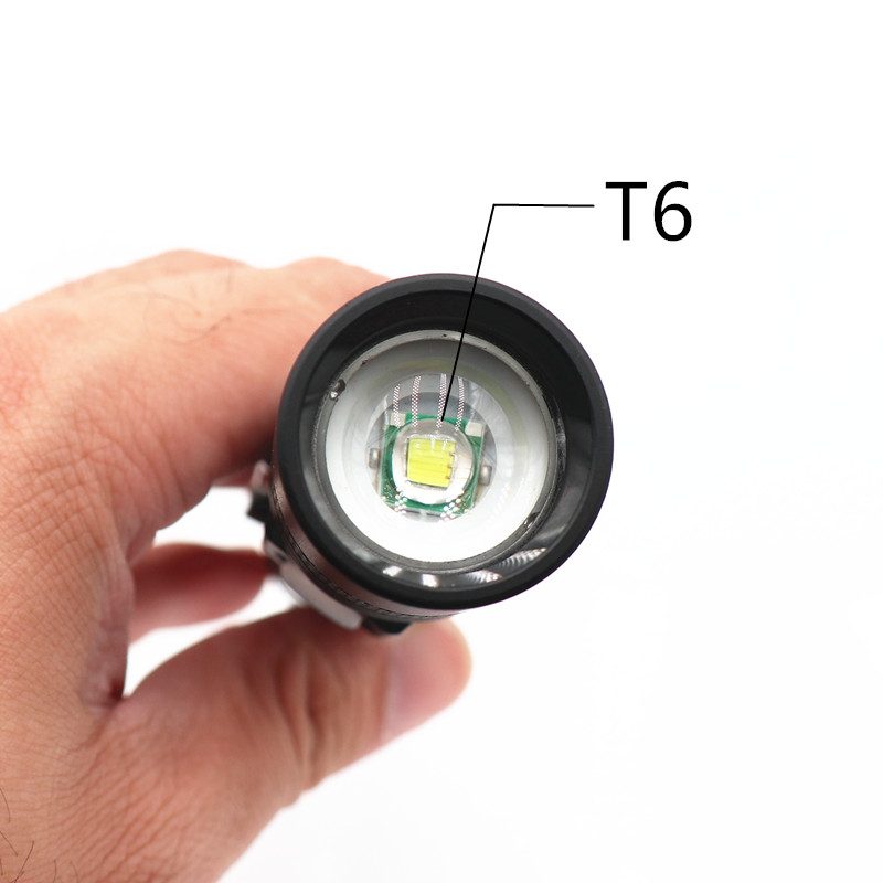 Image 3 - T6 LED Flashlight Spot Lamp IPX5 Waterproof High Power Portable 3 Models Zoomable Camping Equipment Torches lamp-in LED Flashlights from Lights & Lighting
