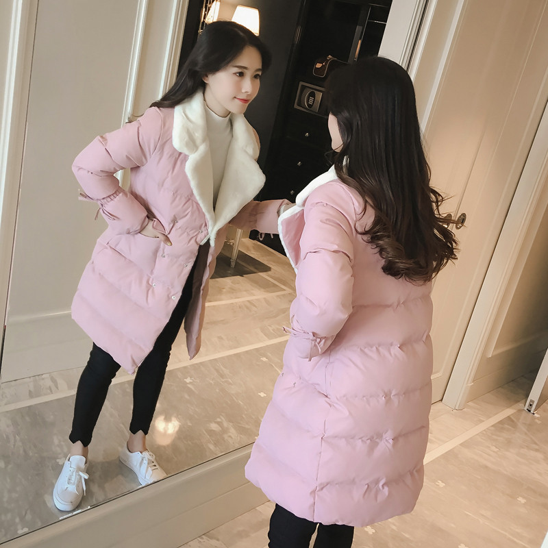 Fashion Winter Warm Solid Color Cotton Padded Female Parka Coat Casual Outerwear Double Breasted Winter Jacket Women TT2927 large size loose autumn winter cotton padded parka jacket women single breasted new female overcoat solid women jacket tt3231