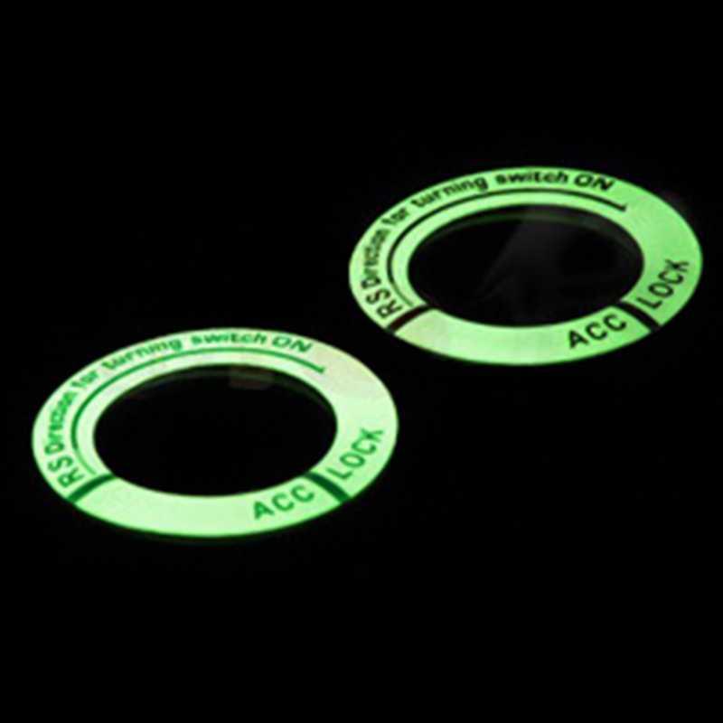 Luminosa Interruptor De Ignição Anel Chave Decoração Adesivo de Carro Car Styling Adesivo de Proteção Auto Acessórios Interiores