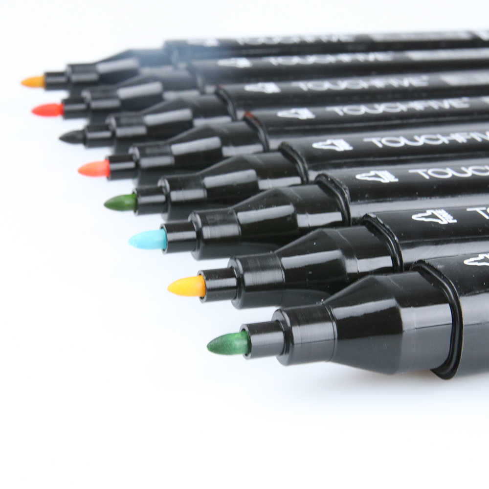 Touchfive 30/40/60/80/168 couleurs croquis marqueur ensemble de stylos double marqueurs pinceau stylo pour dessin Manga Architecture Design Art fournitures