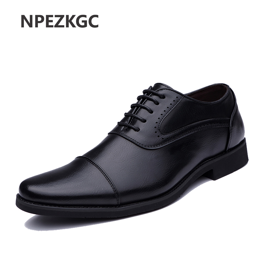 2018 Men Dress Shoes Simple Style Quality Men Oxford Shoes Lace-up Brand Men Formal Shoes Men Leather Wedding Shoes klywoo brand new simple style men dress shoes leather breathable lace up oxford shoes for men fashion oxford zapatos hombre
