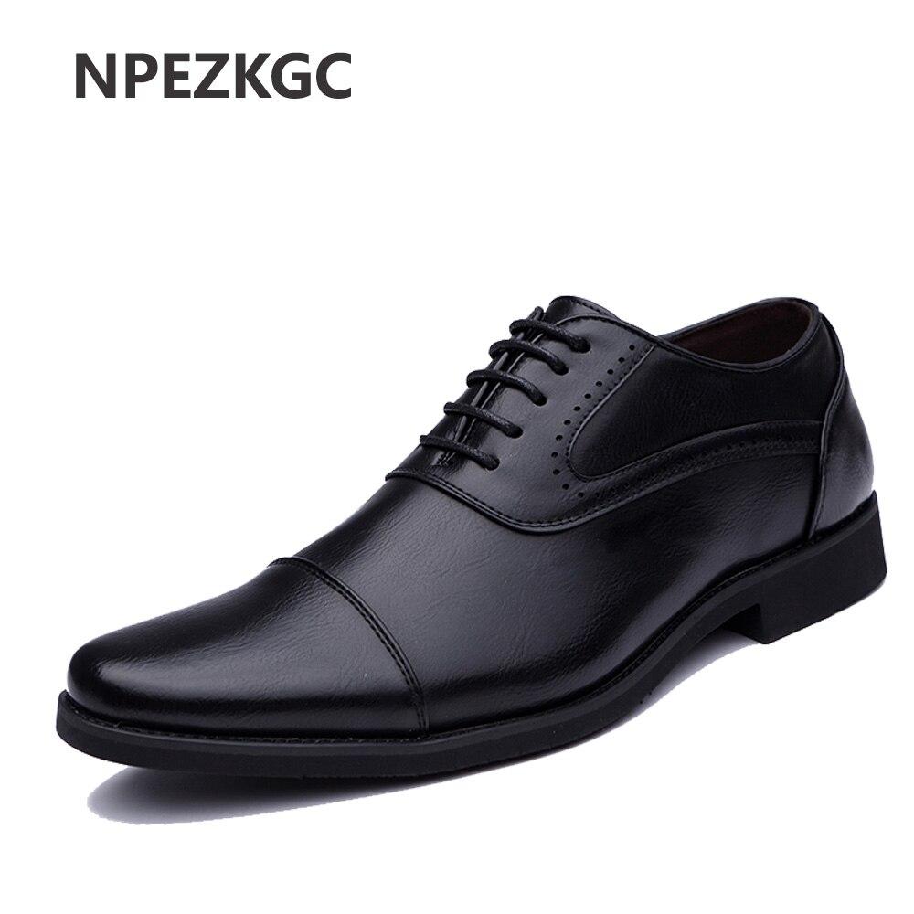 2018 Men Dress <font><b>Shoes</b></font> Simple Style Quality Men <font><b>Oxford</b></font> <font><b>Shoes</b></font> Lace-up Brand Men Formal <font><b>Shoes</b></font> Men Leather Wedding <font><b>Shoes</b></font>