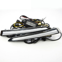 2Pcs/set Daytime Running Lights For Ford Kuga Escape 2012 2014 2015 2016 2017 100% Waterproof LED DRL With Turning Signal Lamps