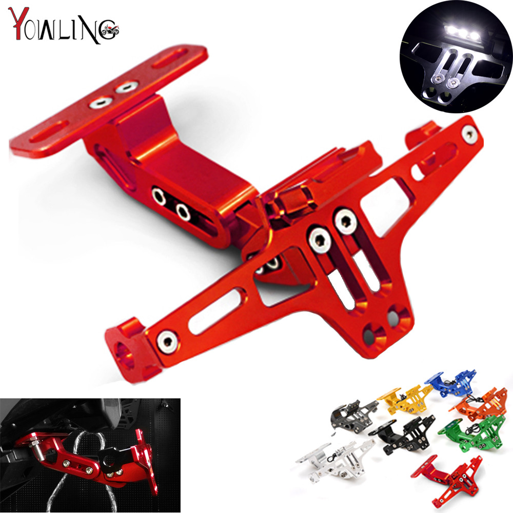 Motorcycle CNC License Plate Bracket Licence Plate Holder Frame Number Plate For Ducati 696 749 MONSTER M400 M600 M620 2009-2013