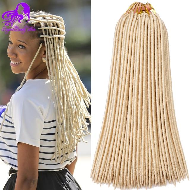 18 Inch Faux Locs Crochet Hair Kanekalon Long Crotchet Locs Hair