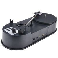 Vinyl Record Player Mini MP3 Converter Turntables to Save Music to USB Flash Drive/ SD Card Built in Speaker Ezcap613P 33/45RPM