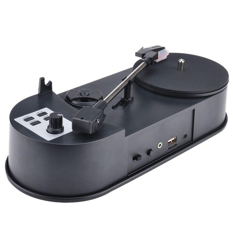 Lecteur de disque vinyle Mini convertisseur MP3 platines pour enregistrer de la musique sur clé USB/carte SD haut-parleur intégré Ezcap613P 33/45 tr/min