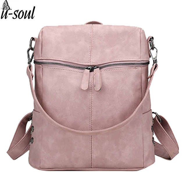de24e6dbcc1 female backpack women pu leather shoulder bag backpacks ladies teenage  girls fashion vintage backpack women s rucksack SC0467