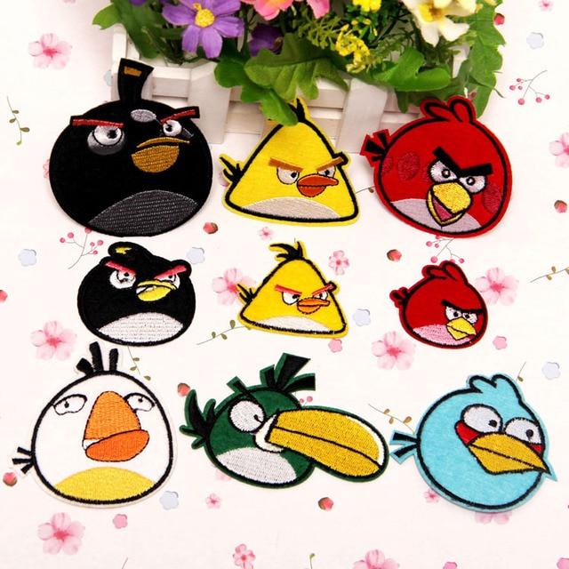 9 Unidslote Mezclados Hermosos Pájaros De Dibujos Animados Parche